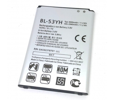 BATERIA Batería BL-53YH original PARA LG G3 OPTIMUS G3 D830 D850 D851 D855 LG - 1