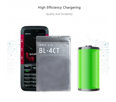 Battery For Nokia 7230 , Part Number: BL-4CT  - 5