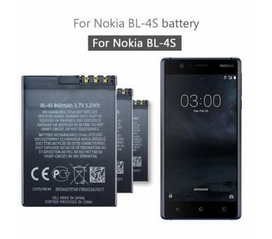 Originele interne batterij BL4S BL-4S voor Nokia X3-02 2680 3600 6208  - 3
