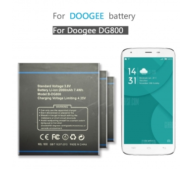 Battery For Doogee Valencia , Part Number: B-DG800  - 3