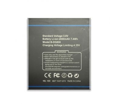 Battery For Doogee Valencia , Part Number: B-DG800  - 4