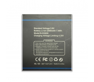 Battery For Doogee Valencia , Part Number: B-DG800