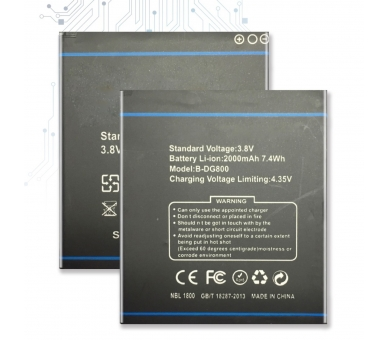 Battery For Doogee Valencia , Part Number: B-DG800  - 1