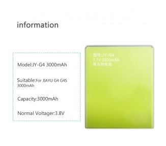 Bateria Pila Interna Original JY-G4 para JIAYU G4 G4S G4T G4C G5 G5S 3000 mah  - 2