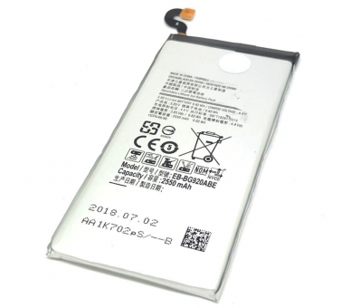 Battery For Samsung Galaxy S6 , Part Number: EB-BG920ABE  - 7