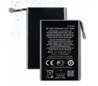 Battery For Nokia Lumia 800 , Part Number: BV-5JW  - 2