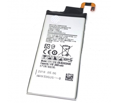Battery For Samsung Galaxy S6 Edge , Part Number: EB-BG925ABA  - 3