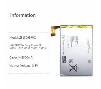Oryginalna bateria do Sony Xperia SP C5302 C5303 C5306 LIS1509ERPC