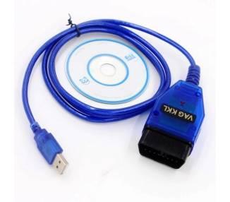Cable de Diagnostico VAG KKL OBD2 USB para FIAT AUDI SKODA SEAT Volkswagen ARREGLATELO - 1