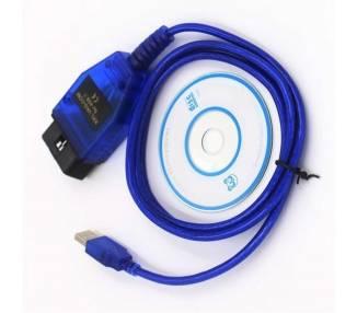 Cable de Diagnostico VAG KKL OBD2 USB para FIAT AUDI SKODA SEAT Volkswagen ARREGLATELO - 2