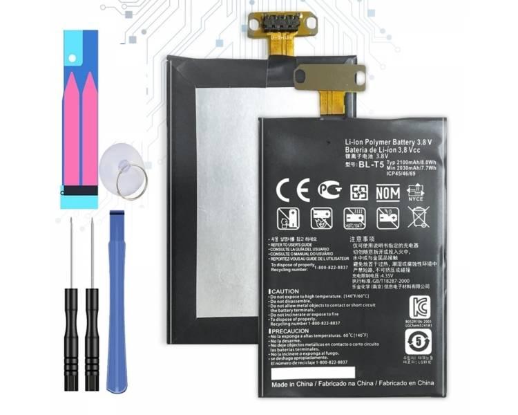 Bateria LG BL-T5 BLT5 BL T5 do GOOGLE NEXUS 4 E960 E975 OPTIMUS G 2100 mAh