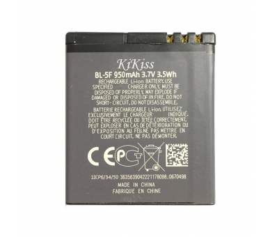 BL-5F BL5F batterij voor NOKIA N93I N95 N96 X5-01 C5-01 N99  - 1
