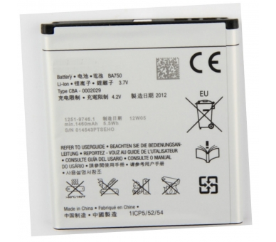 Originele Sony BA-750 BA750 batterij voor SONY XPERIA ARC X12 LT15i LT18i ARC S  - 1
