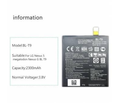 Originele batterij voor LG GOOGLE NEXUS 5 D820 BL-T9 BLT9 BL T9 D821 LG - 1