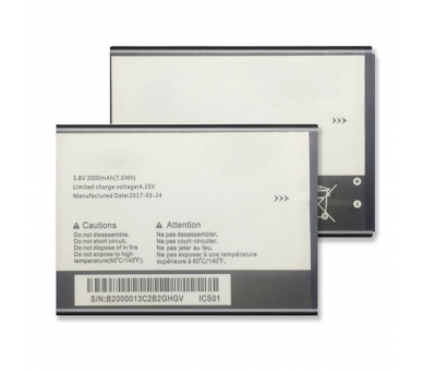 Battery For Alcatel One Touch POP 2 , Part Number: TLI020F2  - 2
