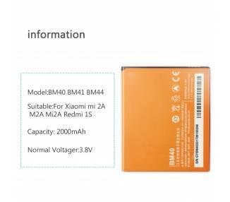 Bateria do Xiaomi Redmi 2 / Redmi 2A, MPN Original BM44