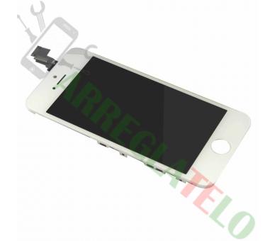 Voller Retina-Bildschirm mit Rahmen für iPhone 5C Weiß Weiß ARREGLATELO - 2
