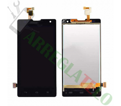 Pantalla Completa para Orange Yumo Huawei G740 Honor 3C Negro Negra ULTRA+ - 2