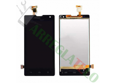 Pantalla Completa para Orange Yumo Huawei G740 Honor 3C Negro Negra ARREGLATELO - 2