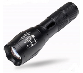 Linterna Led Recargable Tactica Policial Zoom de Led Cree T6 & Cargador Bateria ARREGLATELO - 1