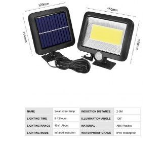 100 LED Solar Luz de Pared Impermeable Sensor de Movimiento Lámpara Exterior ARREGLATELO - 1