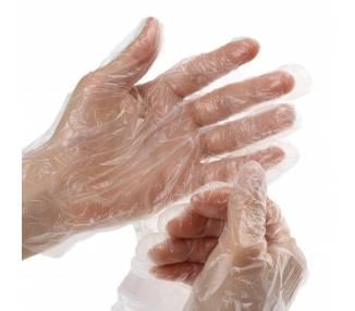 100 Guantes de Plastico Desechable Higiene Hogar Trabajo Ambidiestro Polietileno ARREGLATELO - 1