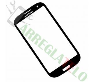 Vitre Ecran Tactile Cristal pour Samsung Galaxy S3 i9300 Noir Noir + Adhesivo ULTRA+ - 1