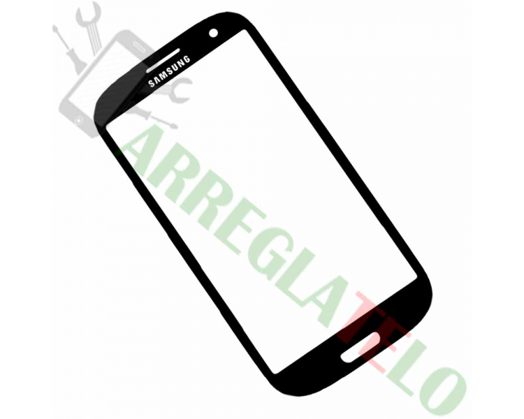 Pantalla Tactil Cristal para Samsung Galaxy S3 i9300 Negro Negra ARREGLATELO - 1