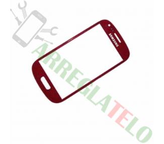 Pantalla Tactil Digitalizador Cristal para Samsung Galaxy S3 Mini i8190 Rojo ULTRA+ - 1