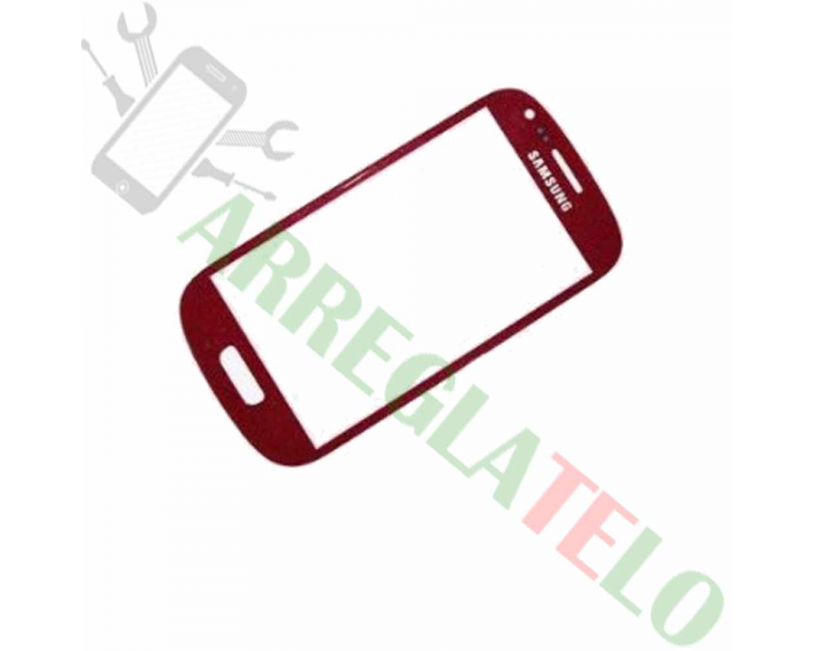 Touch Digitizer Vetro Cristal per Samsung Galaxy S3 Mini i8190 Rosso ULTRA+ - 1