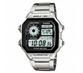 Reloj Digital Casio AE-1200WHD-1A - Hora Mundial - 5 Alarmas - Temporizadores ARREGLATELO - 1