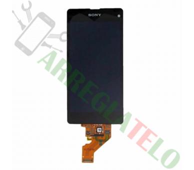 Schermo intero per Sony Xperia Z1 Compact Mini D5503 Nero Nero ARREGLATELO - 2