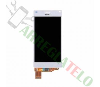 Pełny ekran dla Sony Xperia Z3 Compact Mini D5803 D5833 Biały Biały ARREGLATELO - 2