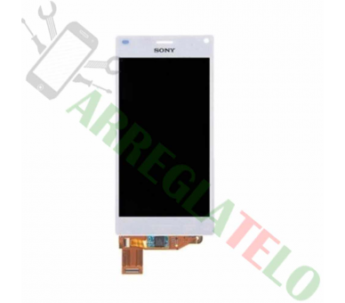 Vollbild für Sony Xperia Z3 Compact Mini D5803 D5833 Weiß Weiß ARREGLATELO - 2
