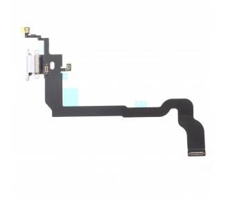 Flex Conector de Carga y Microfono para iPhone X 10 Blanco ARREGLATELO - 2