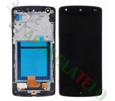 Volledig scherm met frame voor LG NEXUS 5 D820 D821 Zwart Zwart FIX IT - 2