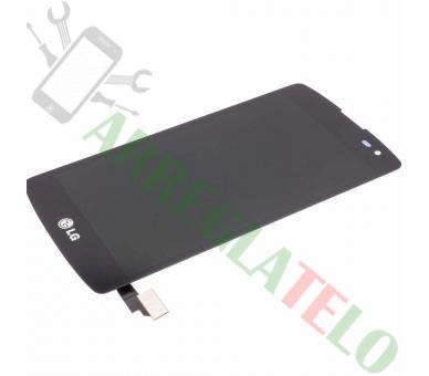 Volledig scherm voor LG L Fino F60 D390 D392 Zwart Zwart FIX IT - 2