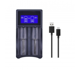 Cargador Inteligente USB para Bateria Li-Ion 18650 ICR IMR INR con LCD ARREGLATELO - 1