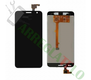 Vollbild für Alcatel Orange Hiro Idol Mini OT-6012 Schwarz Schwarz ARREGLATELO - 2