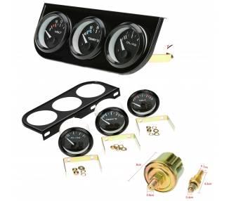 Kit de 3 relojes voltímetro temperatura agua presión aceite coche camión barco ARREGLATELO - 1