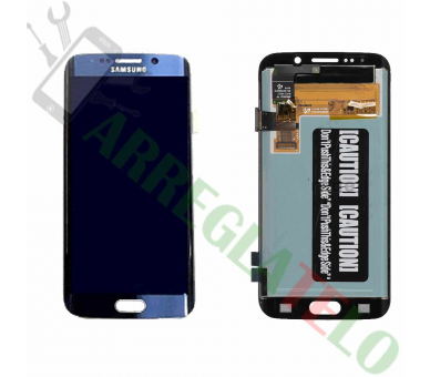 Display For Samsung Galaxy S6 Edge, Color Blue, Original Amoled ARREGLATELO - 2