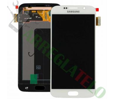 Pełny ekran dla Samsung Galaxy S6 G920F Biały Biały ARREGLATELO - 2