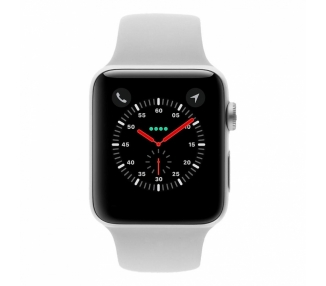 Apple Watch (Series 3) 38 mm - Edelstahl Silber - Armband Sportarmband