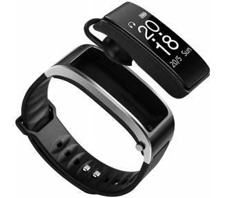 Pulsera Deportiva con funciona de Auricular Bluetooth, Negro