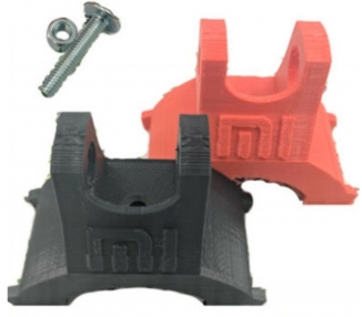 Soporte 3D guardabarros frontal + TORNILLO para reforzar suspensión MONORIM