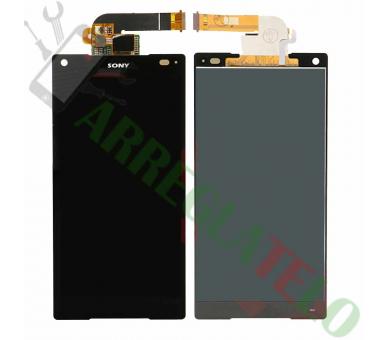 Pełny ekran dla Sony Xperia Z5 Compact Mini E5823 E5803 Czarny Czarny ARREGLATELO - 2