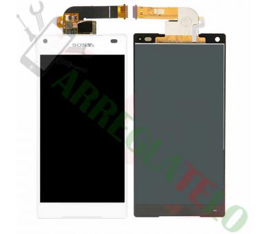 Volledig scherm voor Sony Xperia Z5 Compact Mini E5823 E5803 Wit Wit FIX IT - 2