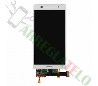 Vollbild für Huawei Ascend P6 Weiß Weiß ARREGLATELO - 2
