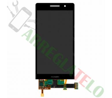 Vollbild für Huawei Ascend P6 Schwarz Schwarz ARREGLATELO - 2