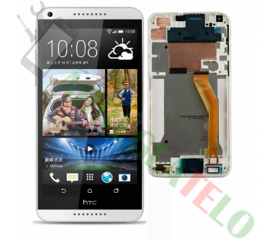 Vollbild mit Rahmen für HTC Desire 816 816D 816T Weiß Weiß HTC - 2